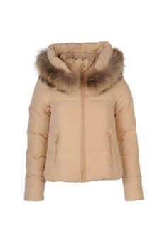 Geci de dama de iarna: Geaca bej din fas cu puf gasca Fur Coat, Winter Jackets, Fashion, Winter Coats, Moda, Fashion Styles, Fasion, Fur Coats