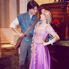 """Rapunzel and Flynn Rider / Eugene Fitzherbert. Disneyland Paris Face Characters. Disney Princess. Tangled.  """"And now that we've gotten the dream that we chose Now that we're in for the haul Now our adventures can come to a close This is happily…"""