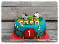 Boerderij dieren voor de eerst verjaardag van Noah.