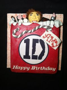 One direction cake with Harry Styles