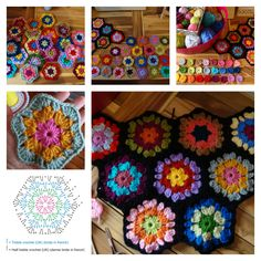 How to Crochet Pretty Hexagon Blanket with Free Pattern
