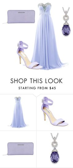 """""""The Vampire Diaries Bonnie Bennet Prom Inspired Outfit"""" by camemckeith ❤ liked on Polyvore featuring Steve Madden, MICHAEL Michael Kors and Palm Beach Jewelry"""
