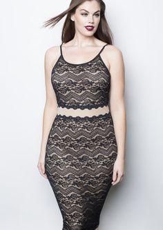 rebdolls plus sizeBlack Floral Lace Dress 2