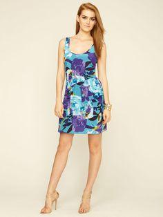 Trina Turk Rachelle Silk Flutter Peplum Dress.  I want.