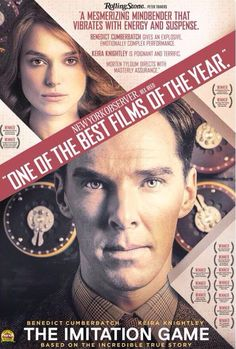 """THE IMITATION GAME (2014) ~ Benedict Cumberbatch as Alan Turing. On the """"possible"""" list for Christmas."""