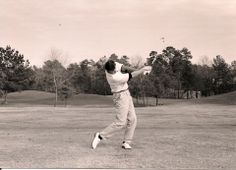 Gary using the Straight Arm just above the left hip position in the follow-through