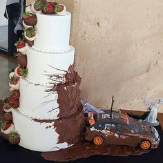 Oh yes... this wedding cake #werkstatt #tuning #boost #boosted #exhausted #exhaust #wedding #Jdm #jdmlove #jdmlife #japonaise #japan #japancar #like4like #hot #followback #cake #dirty #subaru #drifting #drift #subaruimpreza  #wrx #wrxnation #subaruwrx #chocolate #subielove #subie #subarulove #sti by subaru_posting