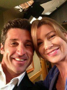 Meredith and Derek (Ellen Pompeo and Patrick Dempsey) on Grey's Anatomy