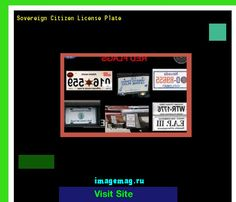 Sovereign citizen license plate 185534 - The Best Image Search