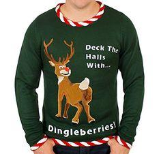 Ugly Christmas Sweater - Rudolph Dingleberries Sweater in Green (X-Large) By Festified Festified http://www.amazon.com/dp/B00FLETQV4/ref=cm_sw_r_pi_dp_P7YEub0YCV22Y