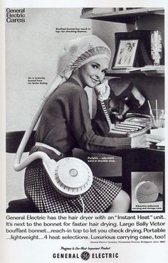 General Electric hair dryer via The Hair Hall of Fame.