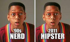 Nerd di ieri = Hipster di oggi!