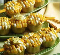 Corn on the cob cupcakes.  #cupcake, #cake, #recipes, #dessert