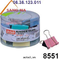 Sang Hà Văn phòng phẩm giá sỉ - Kẹp bướm màu 51mm Deli - 8551