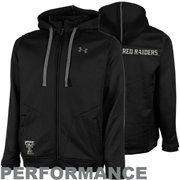Under Armour Texas Tech Red Raiders Lifestyle Full Zip Hoodie Sweatshirt - Black