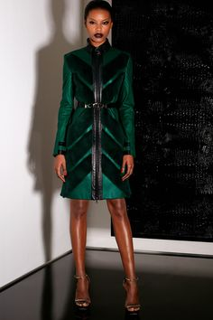 Chevron Striped Fur from Jason Wu - love the bold teal color!