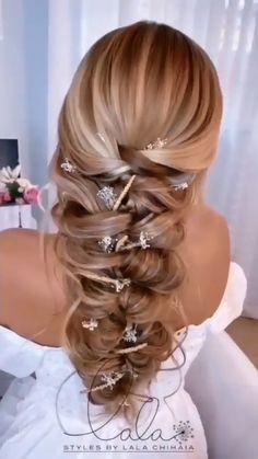 Hairstyles For Medium Length Hair Easy, Up Hairstyles, Wedding Hairstyles, Front Hair Styles, Hair Videos, Hair Hacks, Hair Makeup, Hair Beauty, Updo
