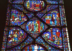 Stained glass window at Chartres cathedral Cathedral Images - - Yahoo Image Search Results Medieval Stained Glass, Stained Glass Church, Stained Glass Angel, Art Quotidien, L'art Du Vitrail, Stained Glass Window Film, Leaded Glass, Wine Bottle Wall, Window Detail