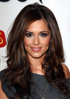 Partial to Brunettes - Cheryl Cole Rocking the perfect shade of brown.