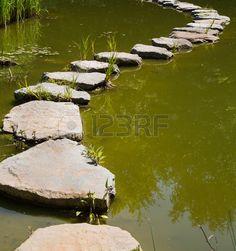 De laatste manier in het leven stenen in het water voor concepten Mourning of de…