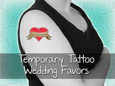 custom temporary tattoo wedding favors