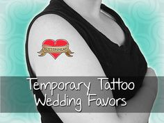 custom temporary tattoo wedding favors