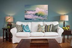 Oil painting on canvas Wave Картина маслом от OilPaintingArtElena