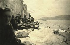 Fallschirmjägers taking a rest after the brutal fight for Heraklion Airport. Crete 1941, pin by Paolo Marzioli
