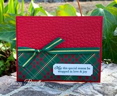 Wrapped in Plaid Designer Series Paper - Stamping With Tracy Diy Paper, Paper Crafts, Heartfelt Creations, Paper Pumpkin, Holiday Fun, Stamping, Card Stock, Tuesday, Craft Supplies
