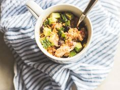 3 Healthy Mug Meals with Chicken : Food Network   Healthy Eats – Food Network Healthy Living Blog