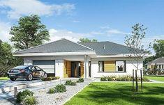 Proiect casă mică cu parter, mansardă, garaj si un interior superb.