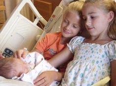 Paige, Chloe and baby Clara