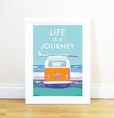 Life is a Journey - Framed A4 Print with Double Mount