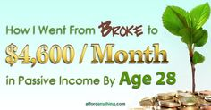 How I Went From Broke to $4,600 / Month in Passive Income By Age 28 | Afford Anything