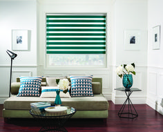 Louvolite - Our beautiful vision® blinds fit all interior decor.    Vision® Capri Colour - Jade Blinds by Louvolite®     The Vision Collection's horizontal stripes effortlessly move from transparent to dim out or blackout.