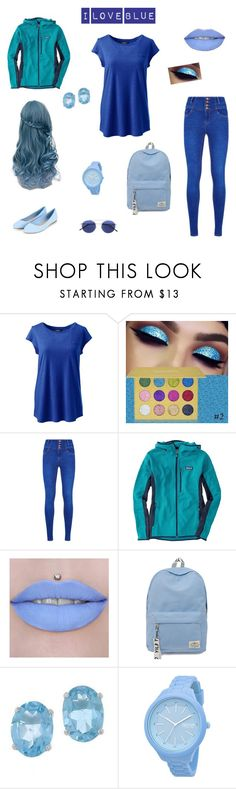 """""""Blue"""" by clarissa-684 ❤ liked on Polyvore featuring Lands' End, Patagonia, Kabella Jewelry, Rip Curl and plus size clothing"""