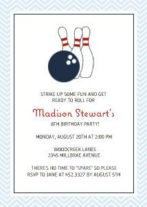 Bowling Party Invite Idea  Party Ideas    Ideas
