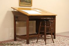 1935 Hamilton Adjustable Drafting, Architect or Artist Desk