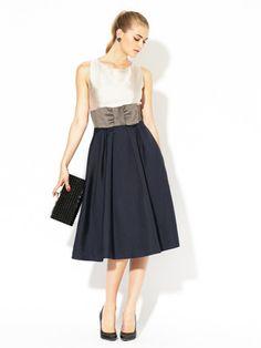 kate spade new york Liana Pleated Silk Colorblock Dress