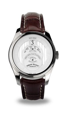 6ab06d53b1f HS2 - Stainless Steel 316L with Brown Alligator Strap - A136AAA-AG-P974MR2  - Armand Nicolet
