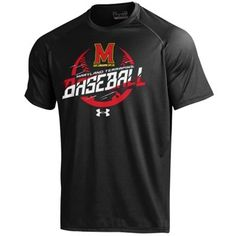 Men's Under Armour Black Maryland Terrapins Baseball Tech Performance T-Shirt