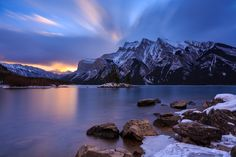Winter nears - Lake Minnewanka was the last body of water in the rockies without significant ice in late November but it was slowly succumbing the relentless cold.