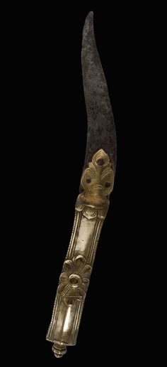 Indian (Martha) bichawa dagger, ca 1676-1725, steel,brass, from The Caravana Collection, www.caravanacollection.com