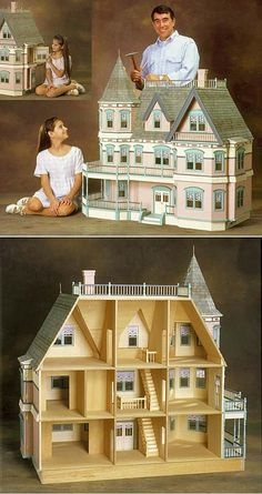 Queen Anne Dollhouse Kit by Real Good Toys