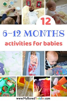 Baby play ideas - activity ideas for keep a 6 - 12 month old entertained at home. Easy activities you can do at home with your baby. 8 Month Old Baby Activities, Infant Activities, Activities For Kids, Activity Ideas, 1year Old Activities, Activities For Babies Under One, 11 Month Old Baby, 9 Month Olds, 6 Month Old Toys
