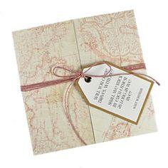 vintage map wedding invitations uk - Google Search