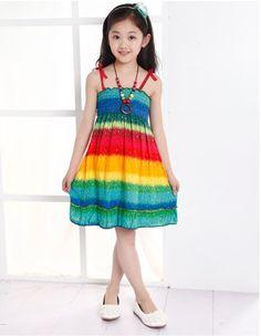 Summer Style Butterfly Girl Dress Bohemian Dress For Girls Princess Dresses Baby Girls Clothing Cotton Kids vestidos10