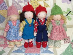 "My four 10"" waldorf dolls | Flickr - Photo Sharing!"