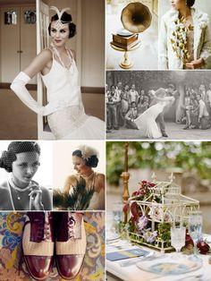 roaring twenties wedding inspiration via http://mymostdearest.blogspot.ca