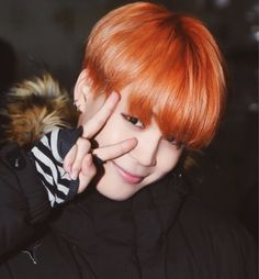 #BTS #Bangtan Jimin orange hair